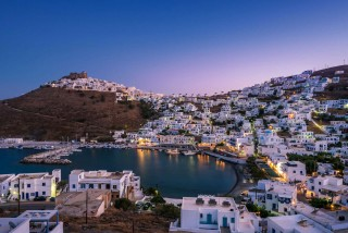 location sail away astypalaia town by night